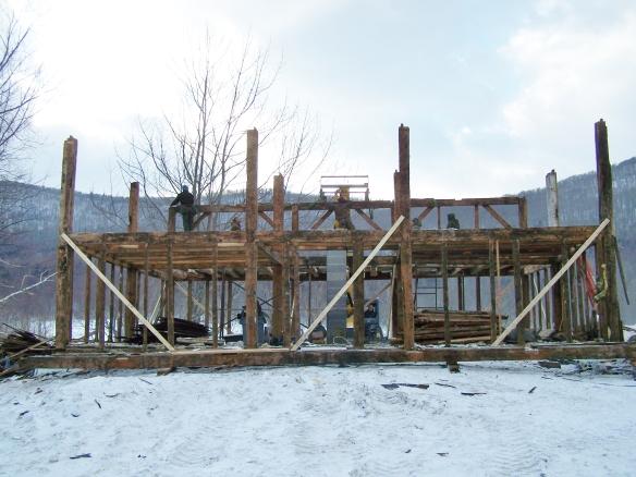 Dismantling timber frame for restoration and preservation