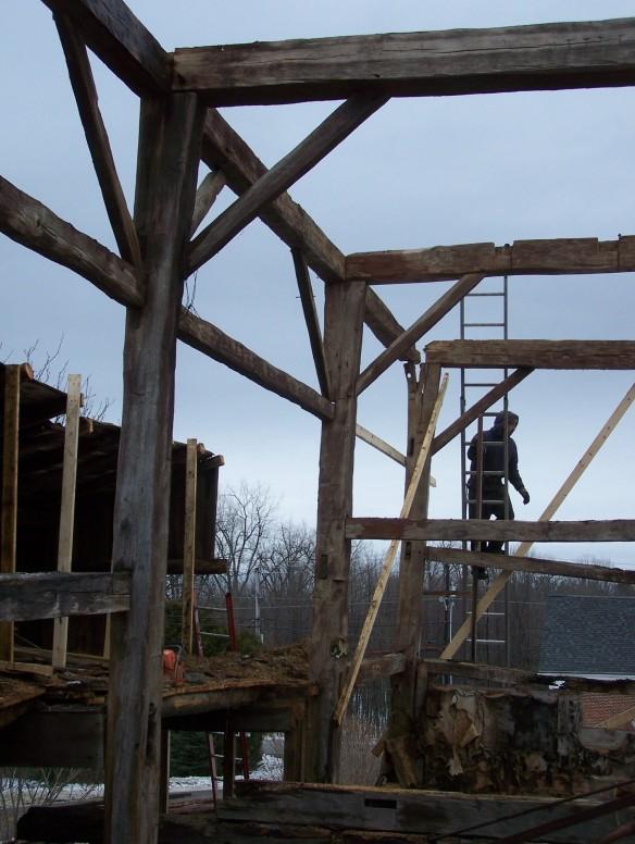 Historic New england barn frame for restoration