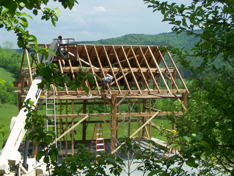 Vermont timber frame | Green Mountain Timber Frames Middletown ...