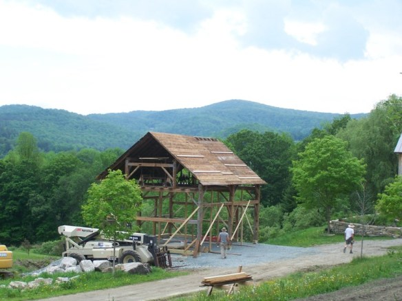 Timber frame barn home construction