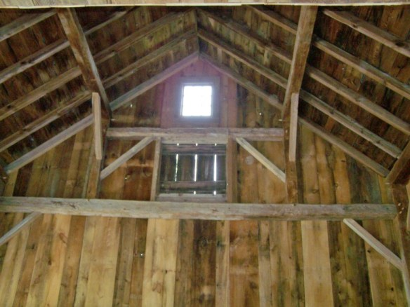 restored timber frame in new england