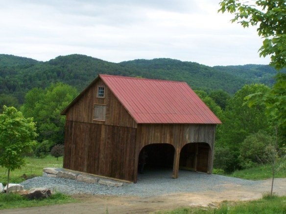 vermont scenic view with historic barn