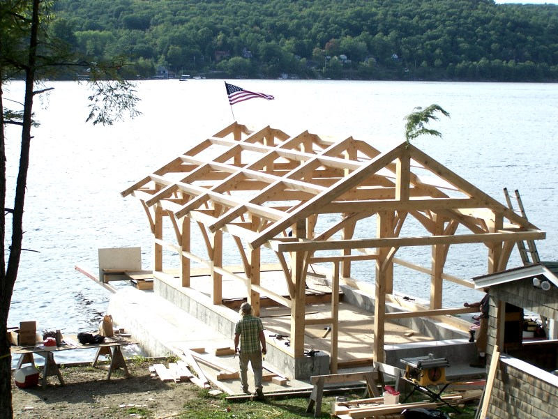 post and beam construction | Green Mountain Timber Frames ...