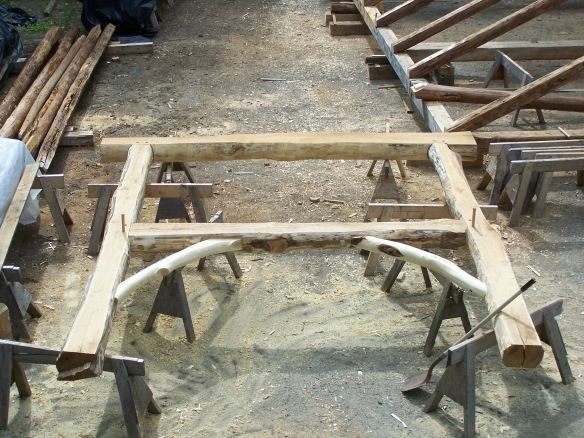 Tenoned Joinery in Locust Wood_green mountain timber frames