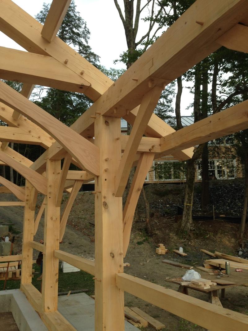 Timber frames_Green Mountain Timber Frames_Luke Larson