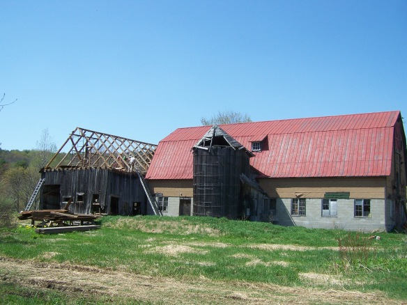 Cavendish Historic Barn before restoration _Green Mountain Timber Frames