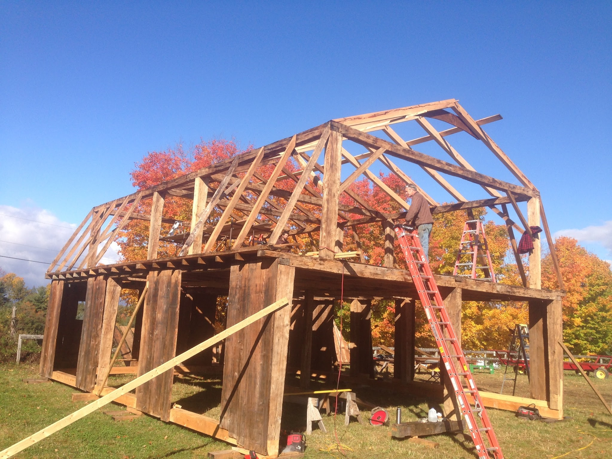 larson farm | Green Mountain Timber Frames Middletown Springs,Vermont