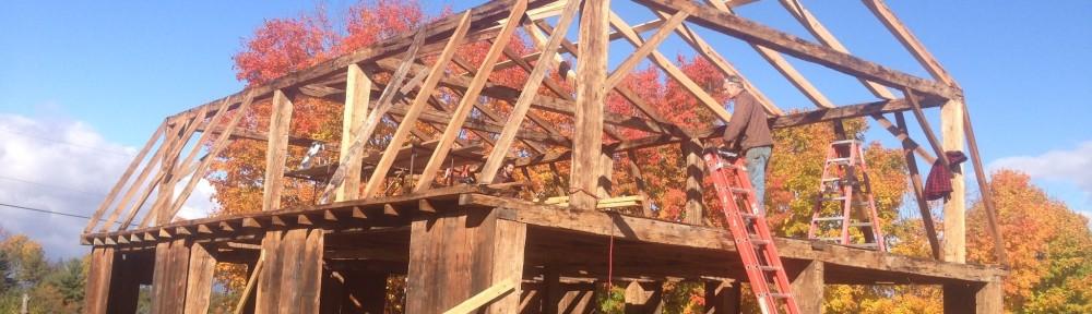 Restored historic timber_Vermont_Green Mountain Timber Frame_Larson Farm