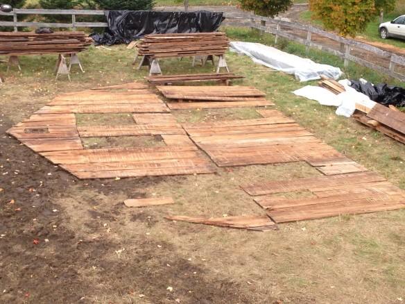 Original Historic Wall Boards_Green Mountain Timber Frame_Larson Farm