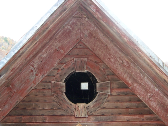 Gable Barn Window on Restored Timber Frame_Green Mountain Timber Frames