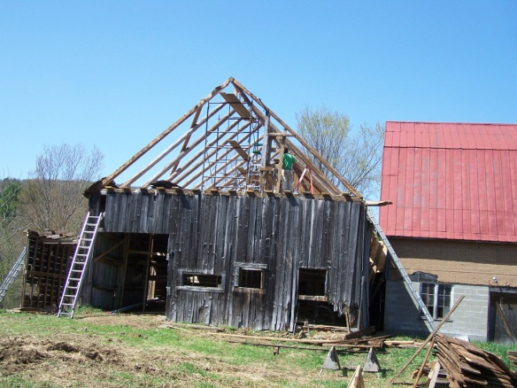 barn restoration | Green Mountain Timber Frames | Middletown Springs ...