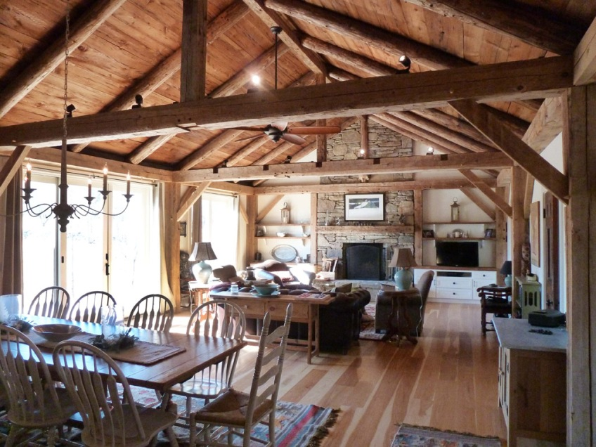 Post And Beam Architecture In Historic Great Room A Blog