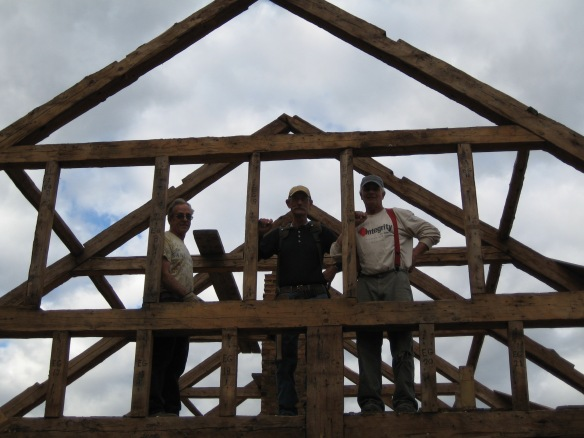 Hodsdon dismantle crew green mountain timber frames