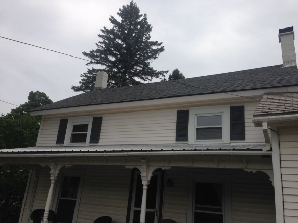 Restored slate roof by Green Mountain Timber Frames