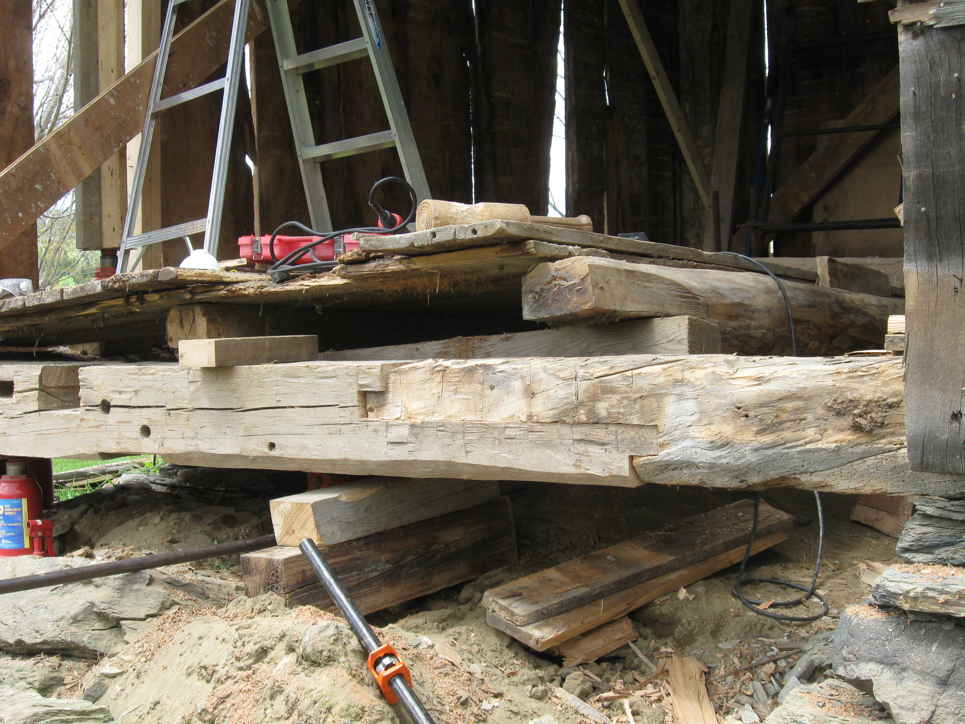 repaired-sill-in-old-barn-green-mountain-timber-frames