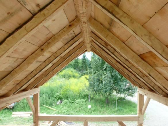 Timber frame sugar house green mountain timber frames