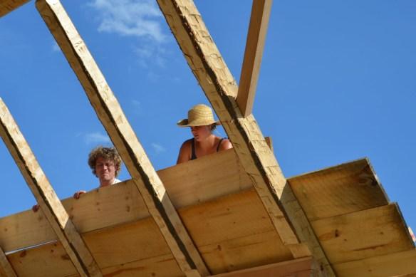 Applying hemlock roof boards green mountain timber frames