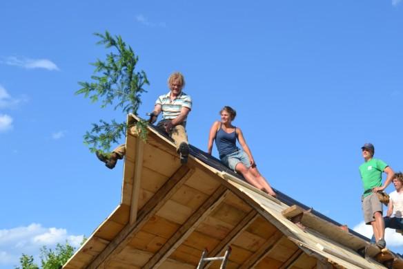 Evergreen bough on sugar house green mountain timber frames
