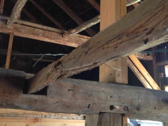 8_Vintage floor joist_Green Mountain Timber Frames