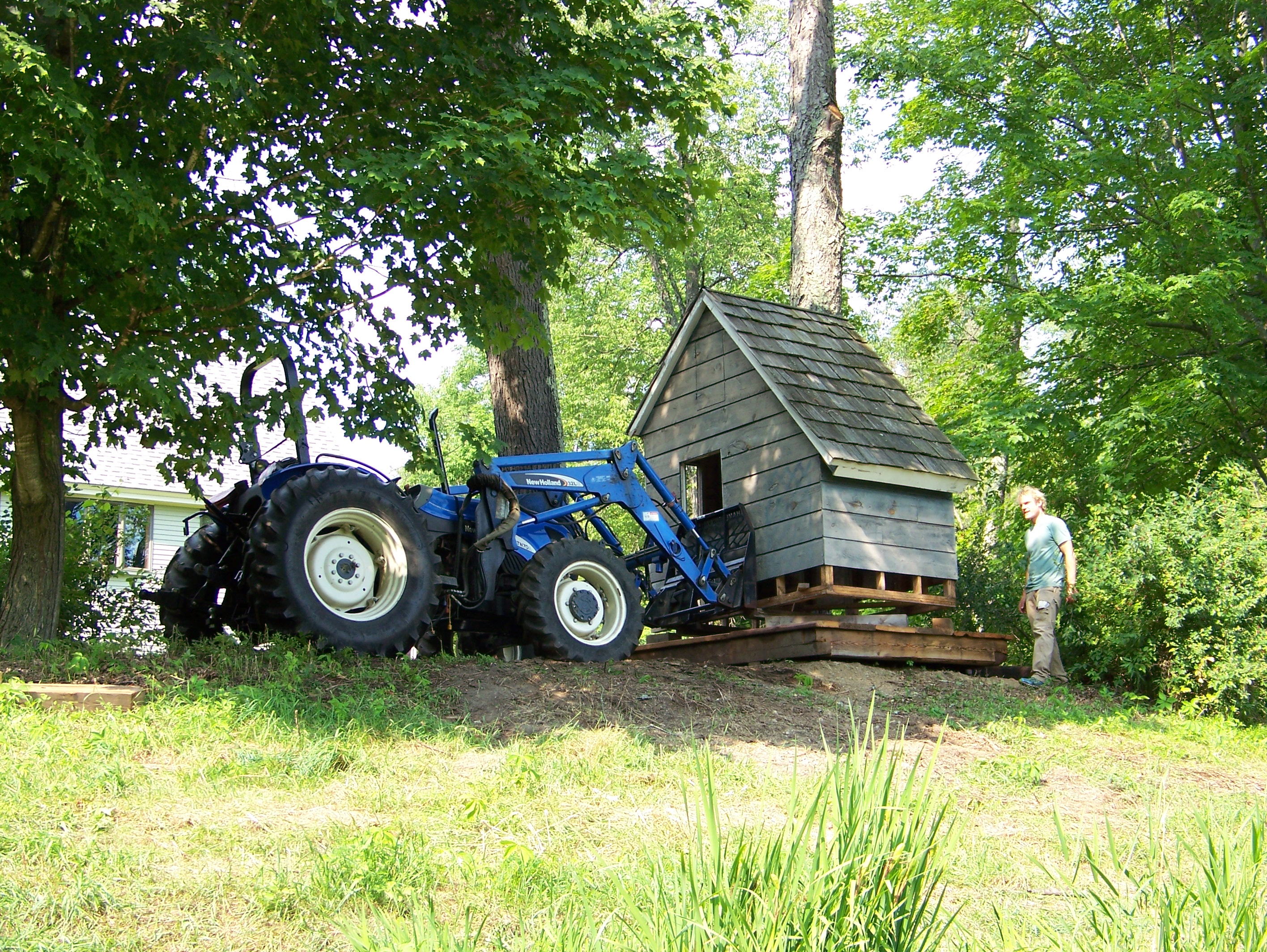Moving barn playhouse to new location