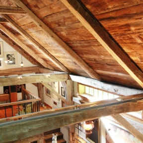 Celing Beams_ Steven Kellogg Timber Frame Home