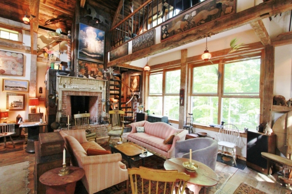Interior View_ Steven Kellogg Timber Frame Home