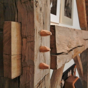 Wooden Pegs_Steven Kellogg Timber Frame Home