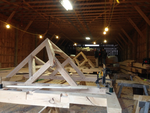 40 foot long roof system_Green Mountain Timber frames