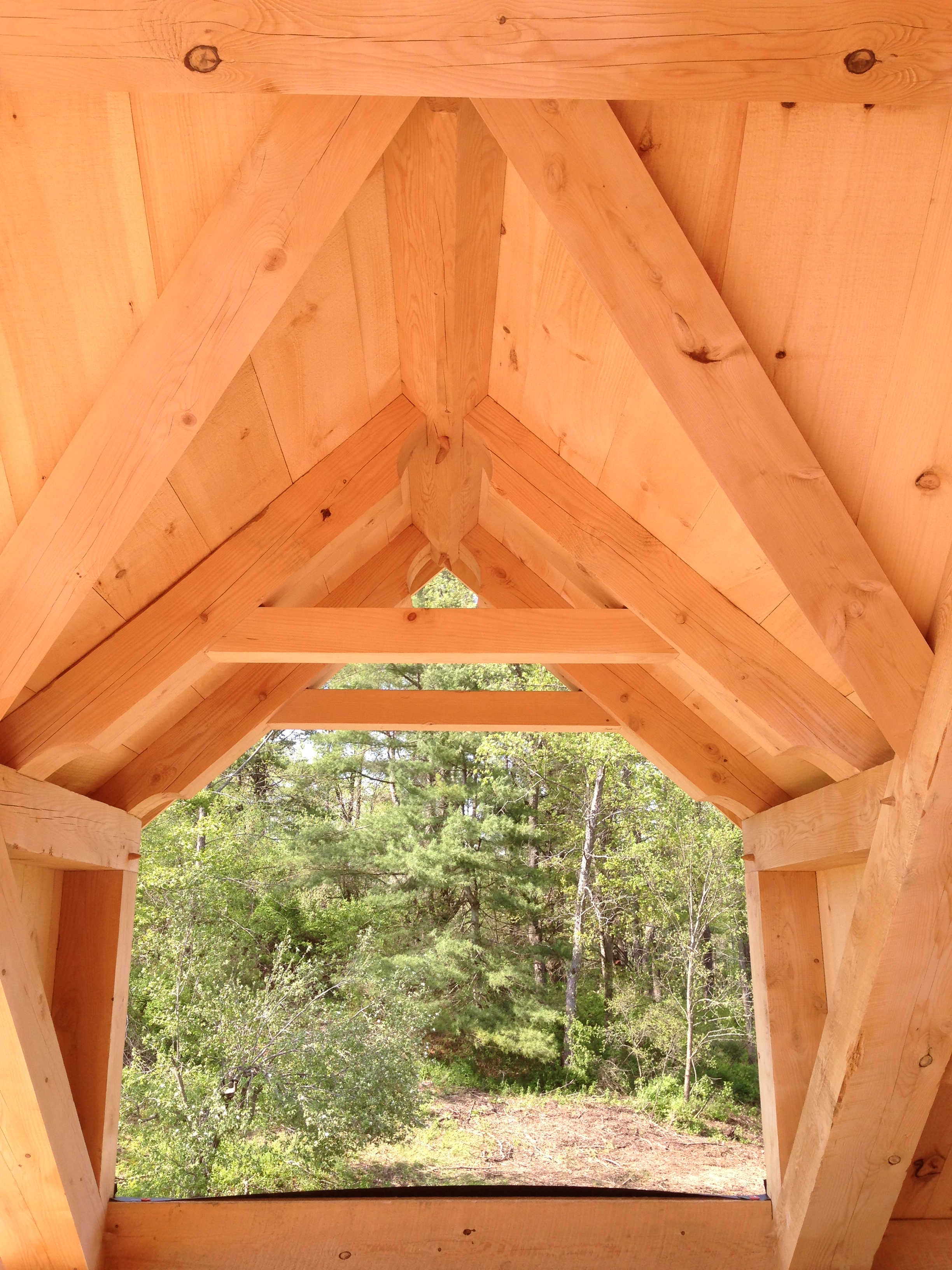 completed dormer_Green mountain timber frames