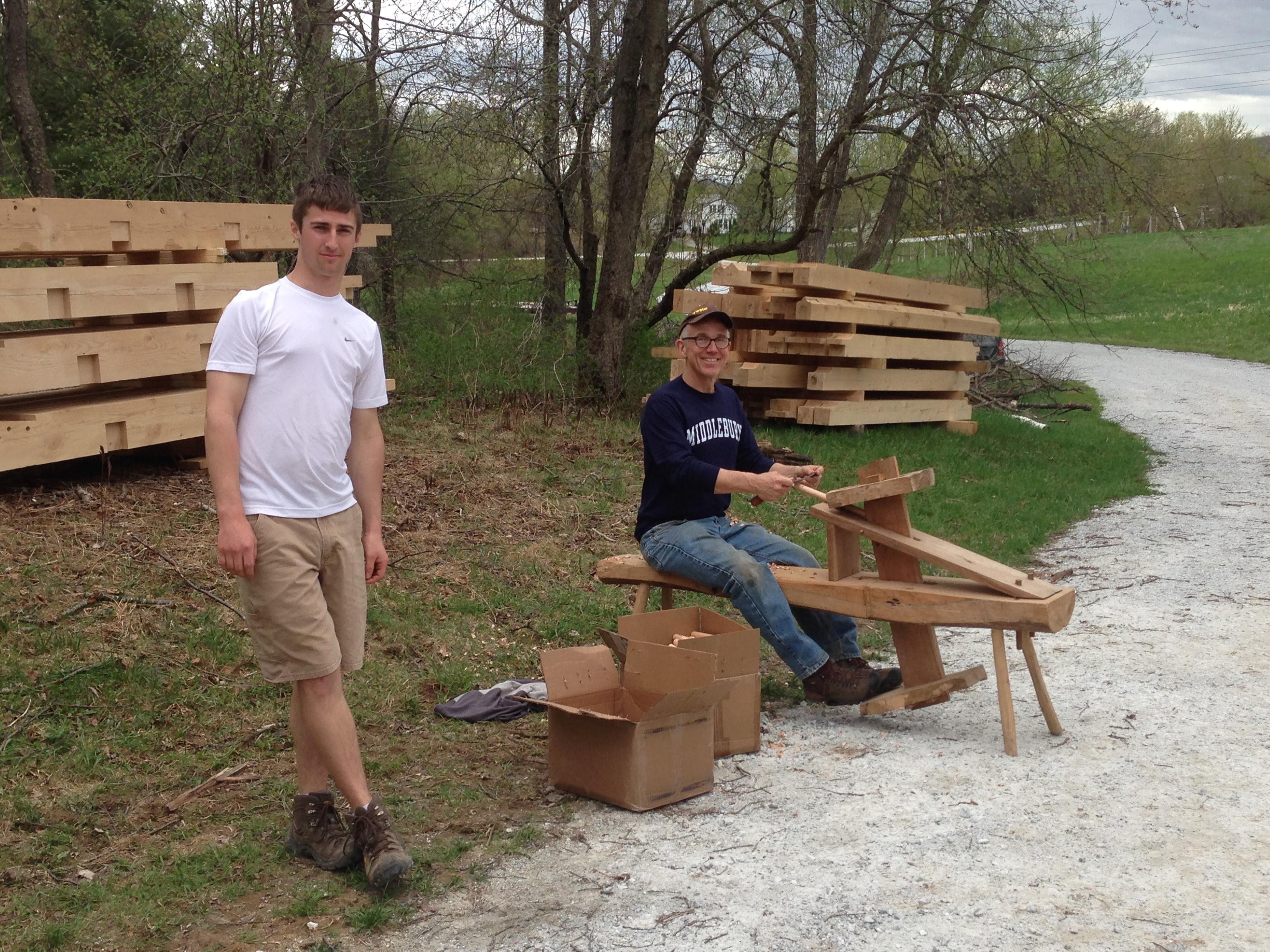 shaping oak pegs green mountain timber frames