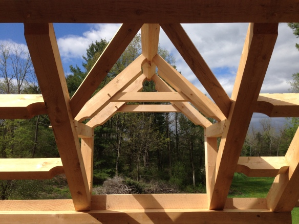 dormers and pitch on timber frame roof