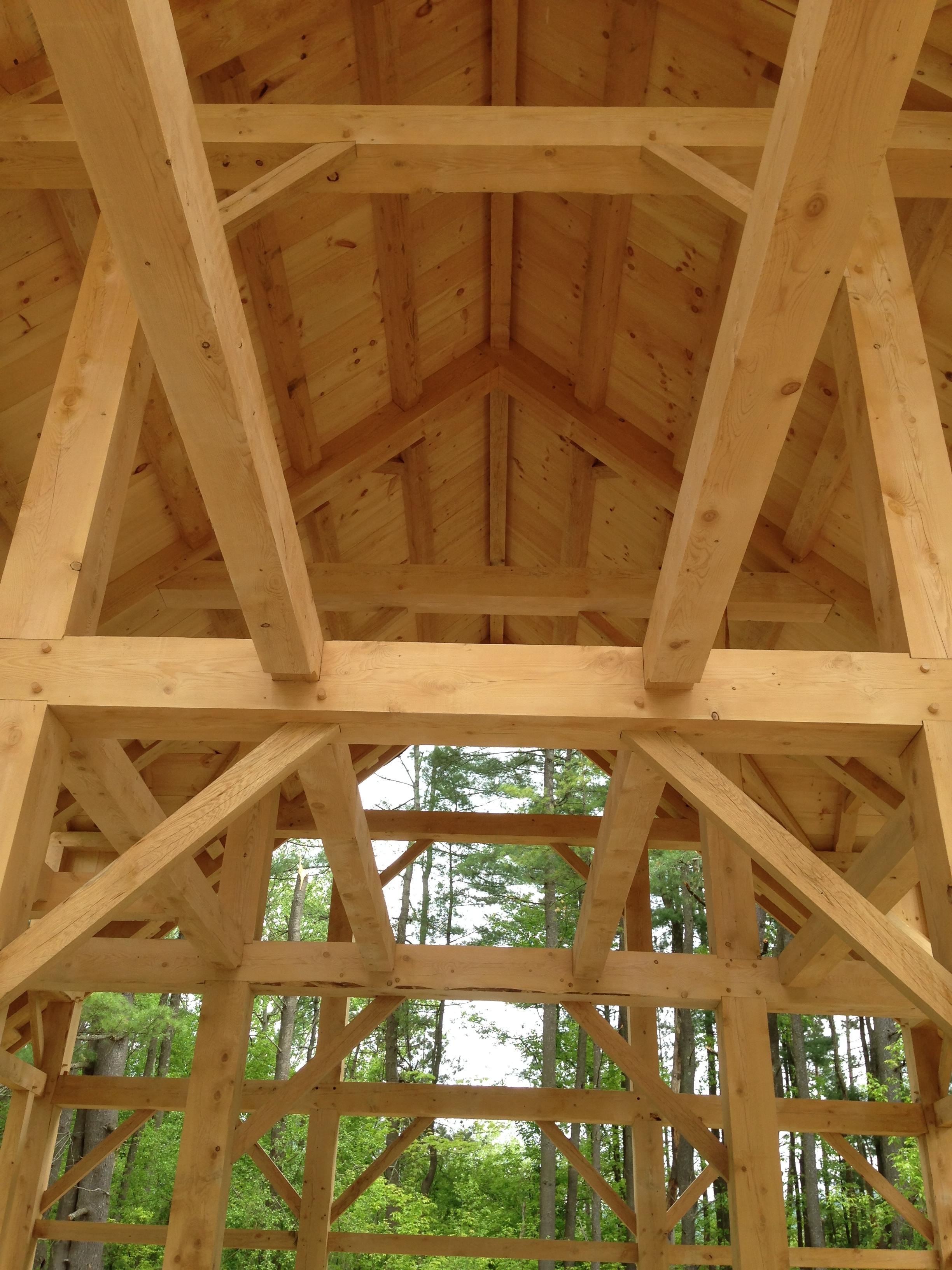 hemlock roof boards Green Mountain Timber Frames