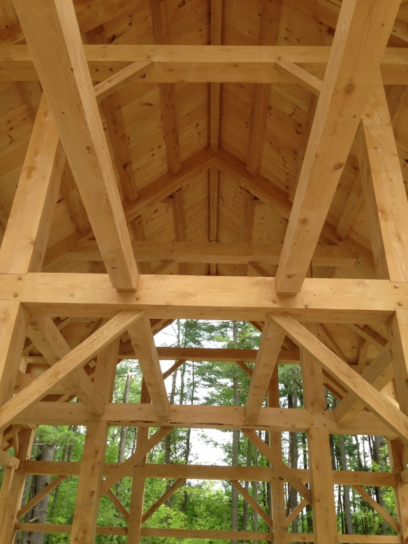 hemlock roof boards Green Mountain Timber Frames