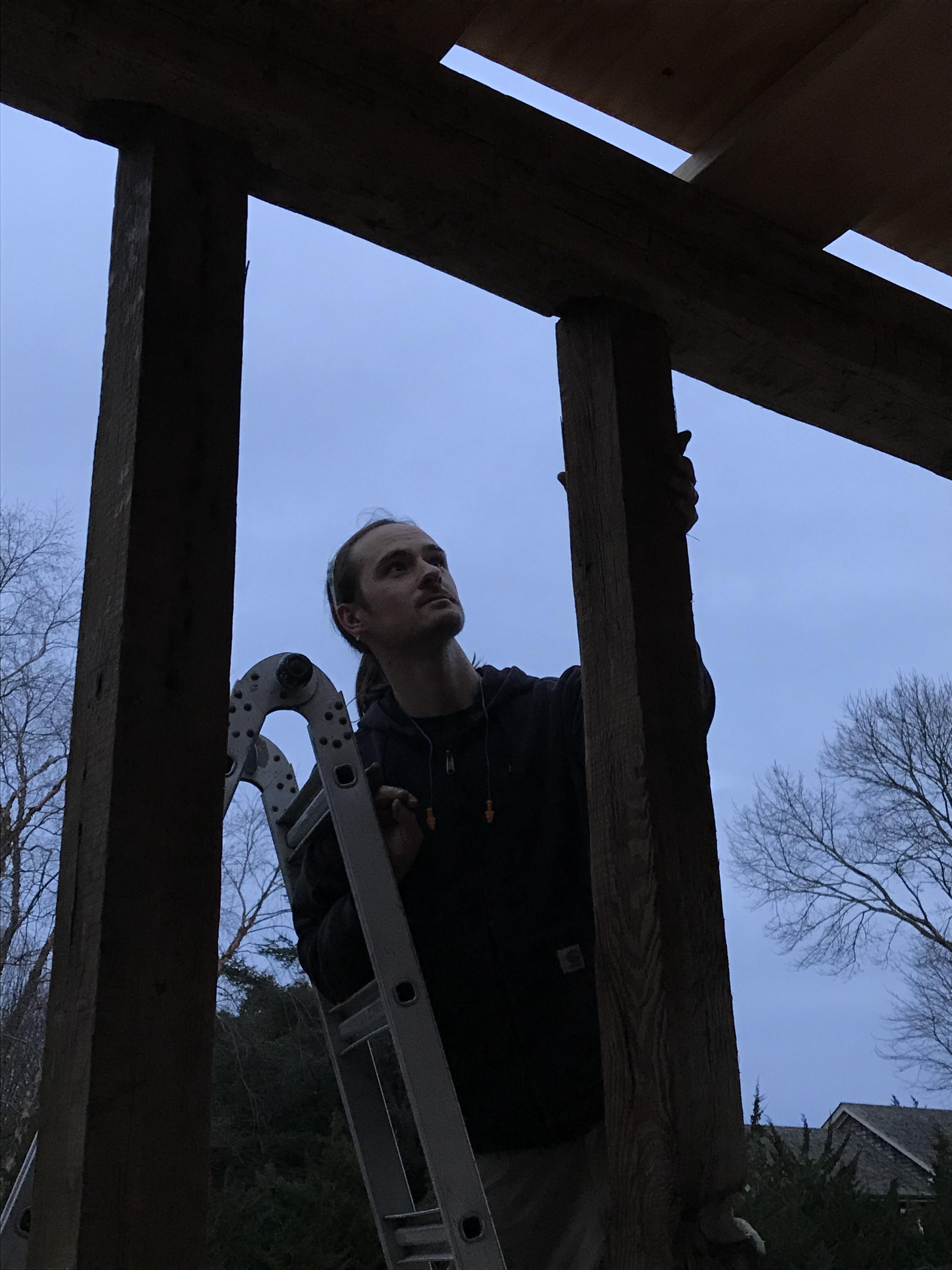 carriage barn raising_Long Island_Green Mountain Timber Frames2