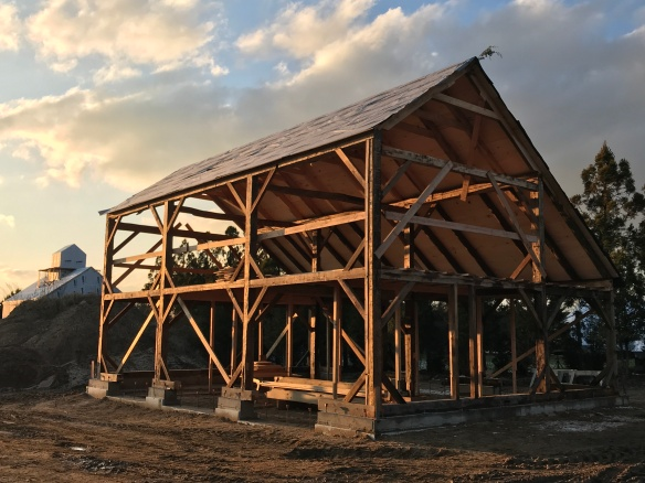 carriage barn raising_Long Island_Green Mountain Timber Frames_6