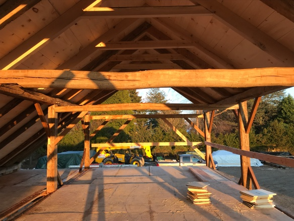 carriage barn raising_Long Island_Green Mountain Timber Frames_7 (2)