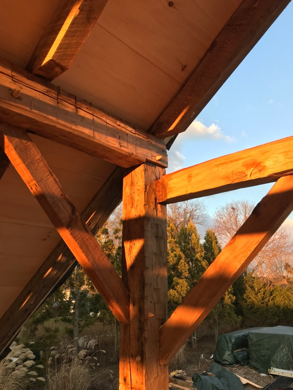 carriage barn raising_Long Island_Green Mountain Timber Frames_8
