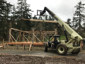 Historic timber frame barn raising_Whidbey Island_Day 1 (3)