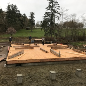Historic timber frame barn raising_Whidbey Island_Day 1
