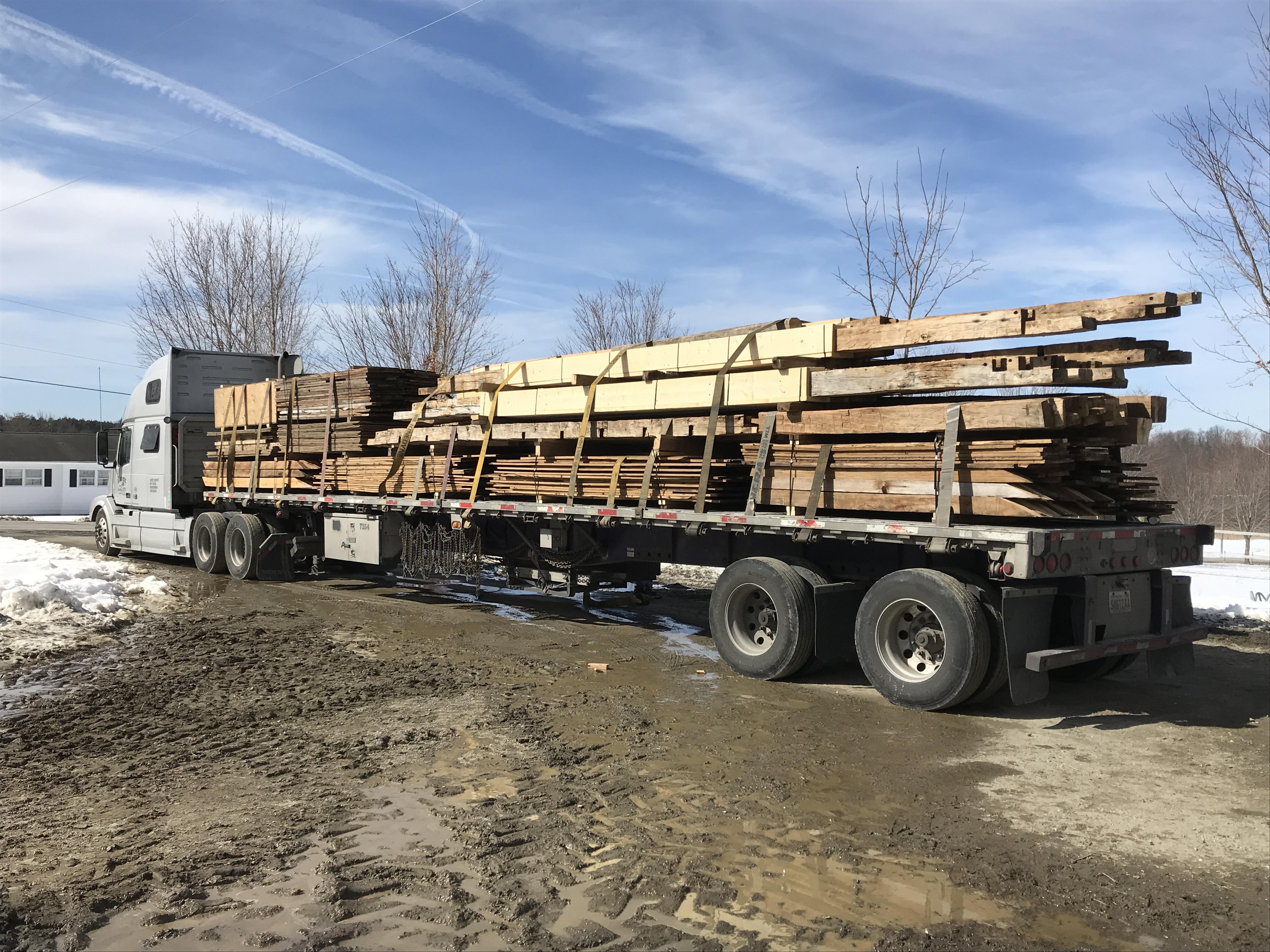 Preparing historic timber frame for shipment