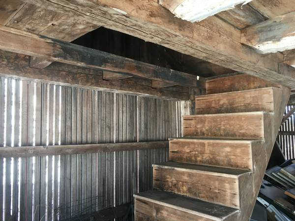 Old barns for sale_timber frame barn_with staircase