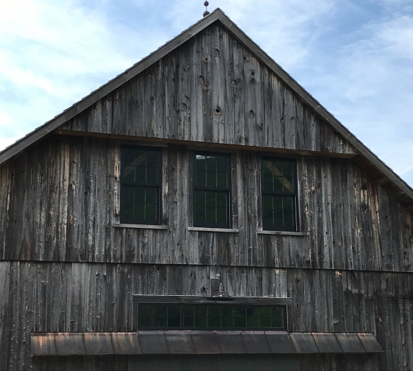 Timber Frame Barn With Swallows