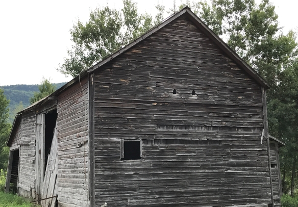 timber frame barn with barn cut outs