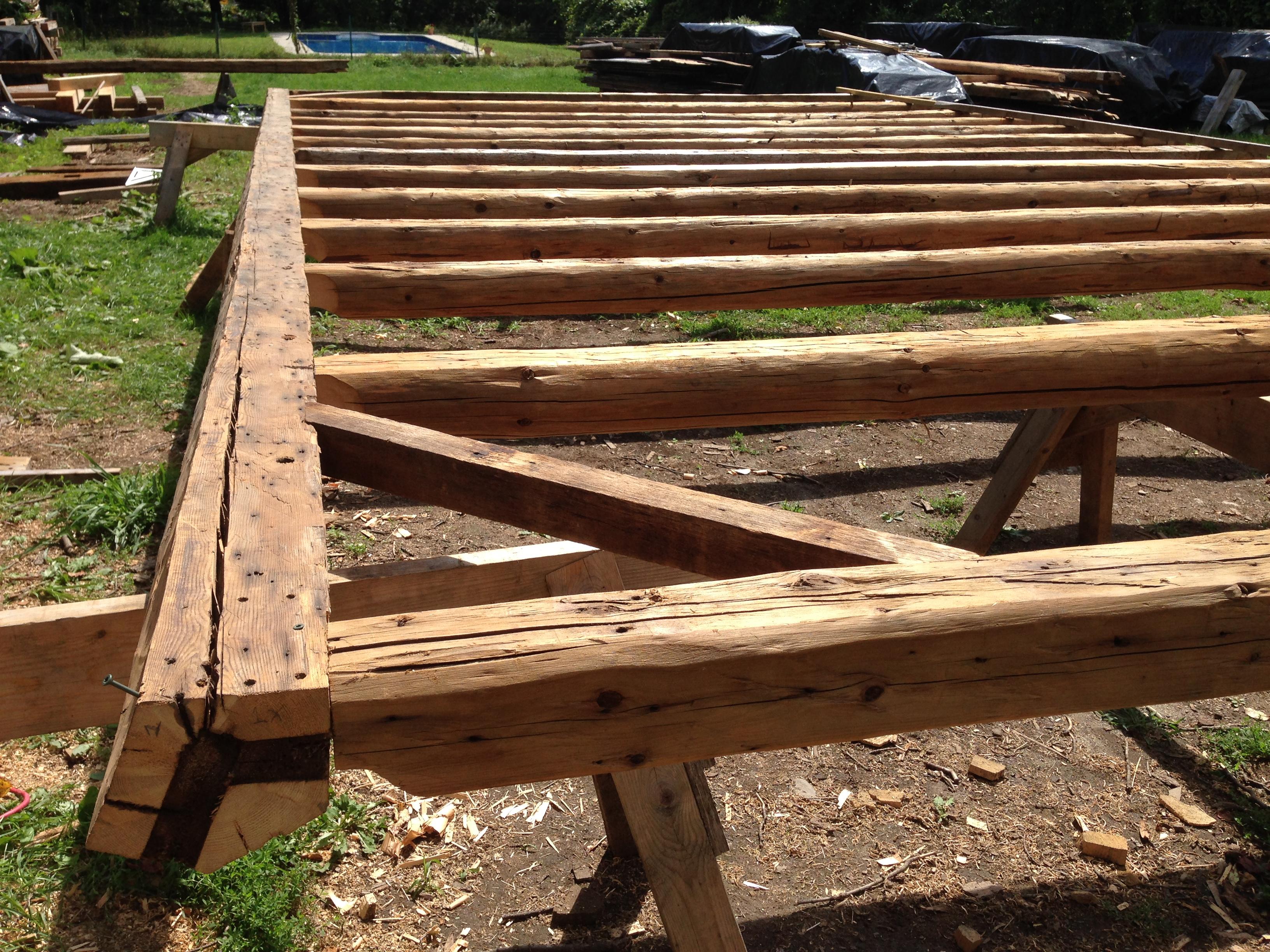 5 sided ridge beam barn restoration