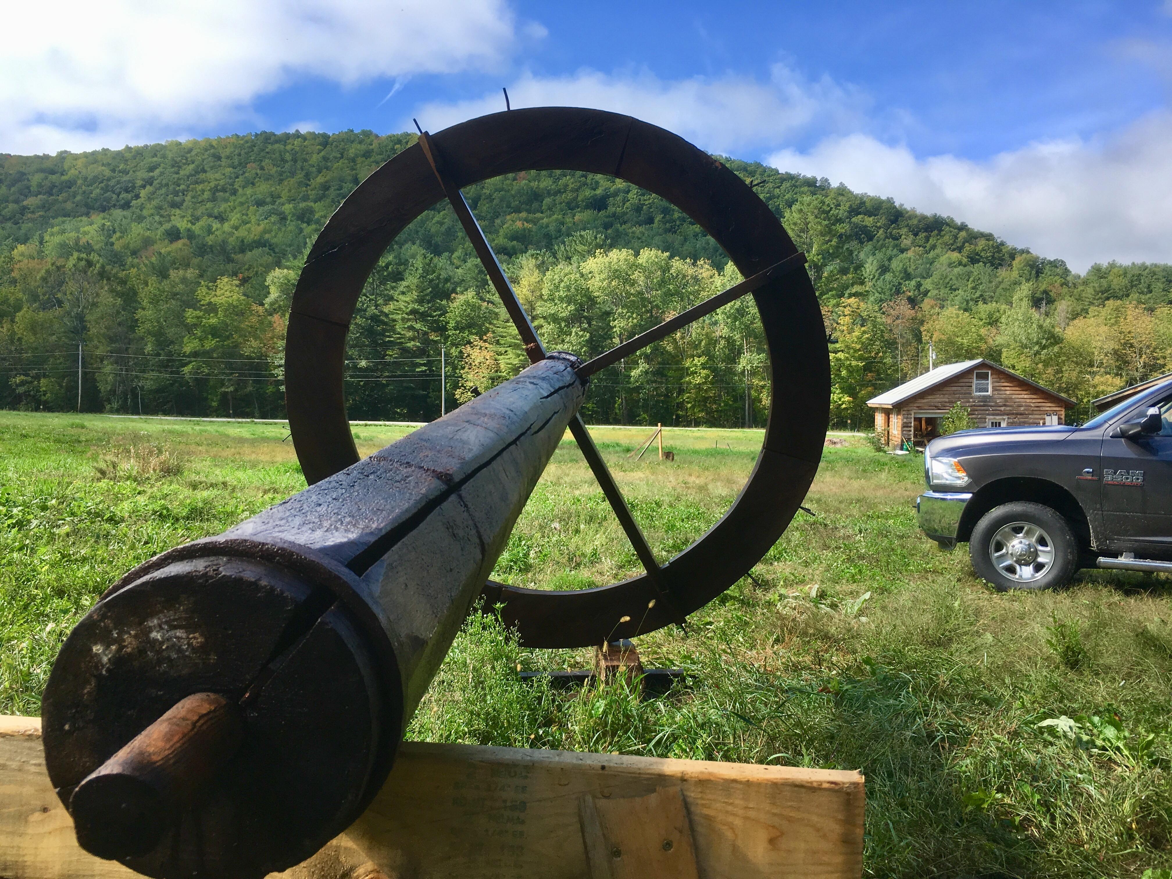 hoist of antique slaughter wheel green mountain timber frames