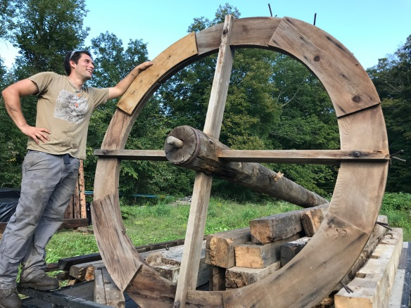 vintage slaughter wheel from Vermont barn home