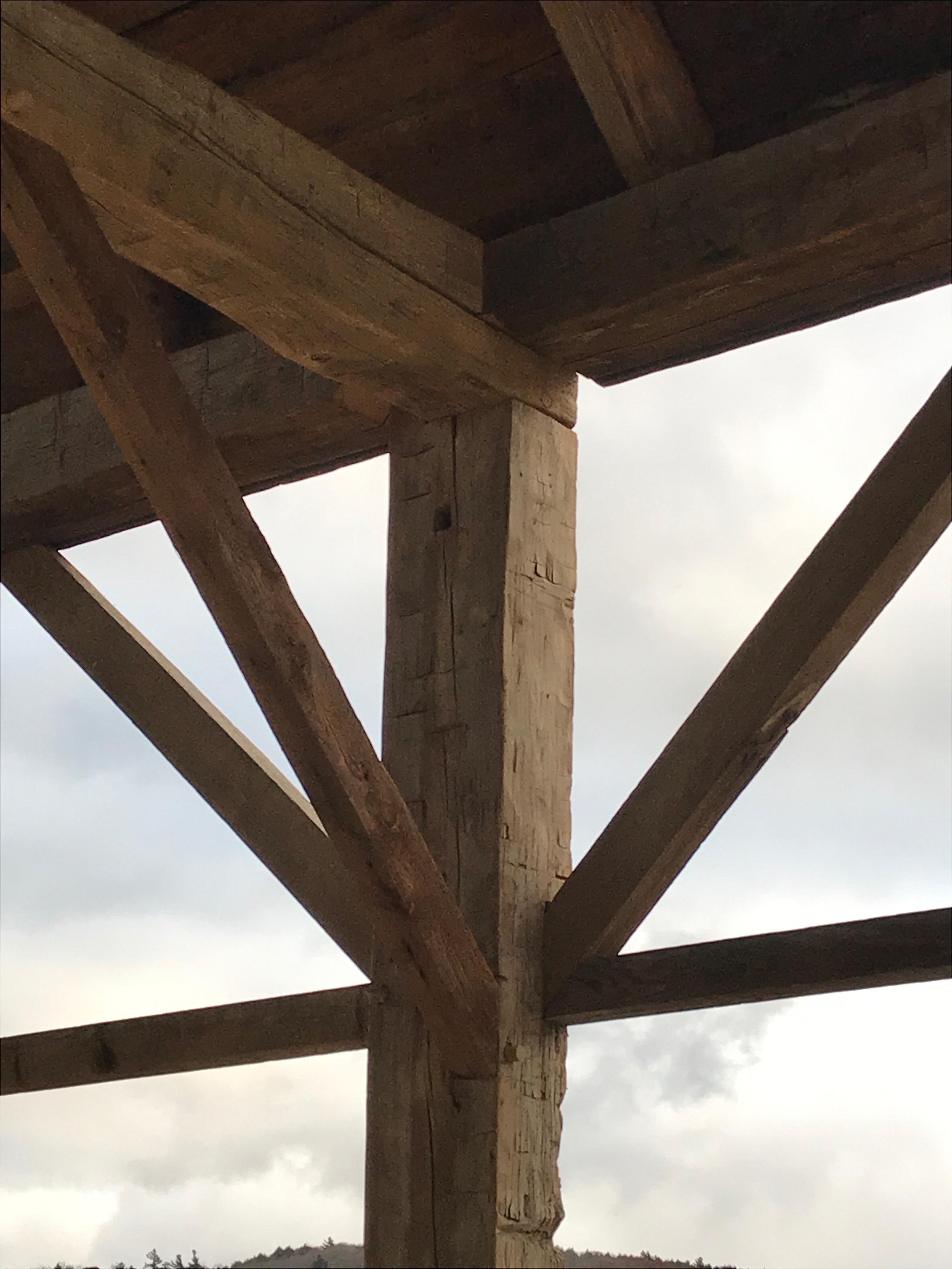 antique gunstock timber frame green mountain timber frames