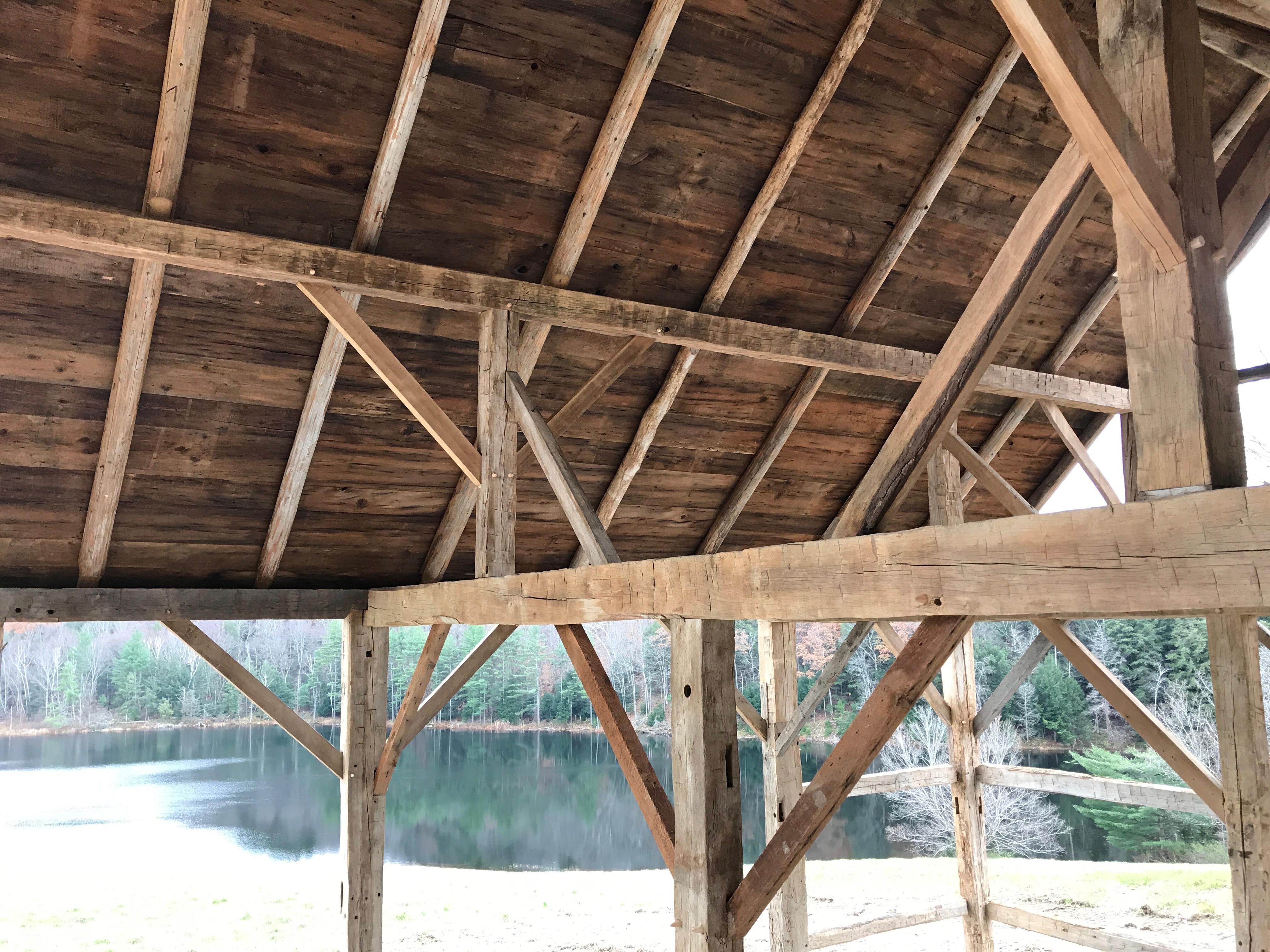 gunstock frame barn home green mountain timber frames