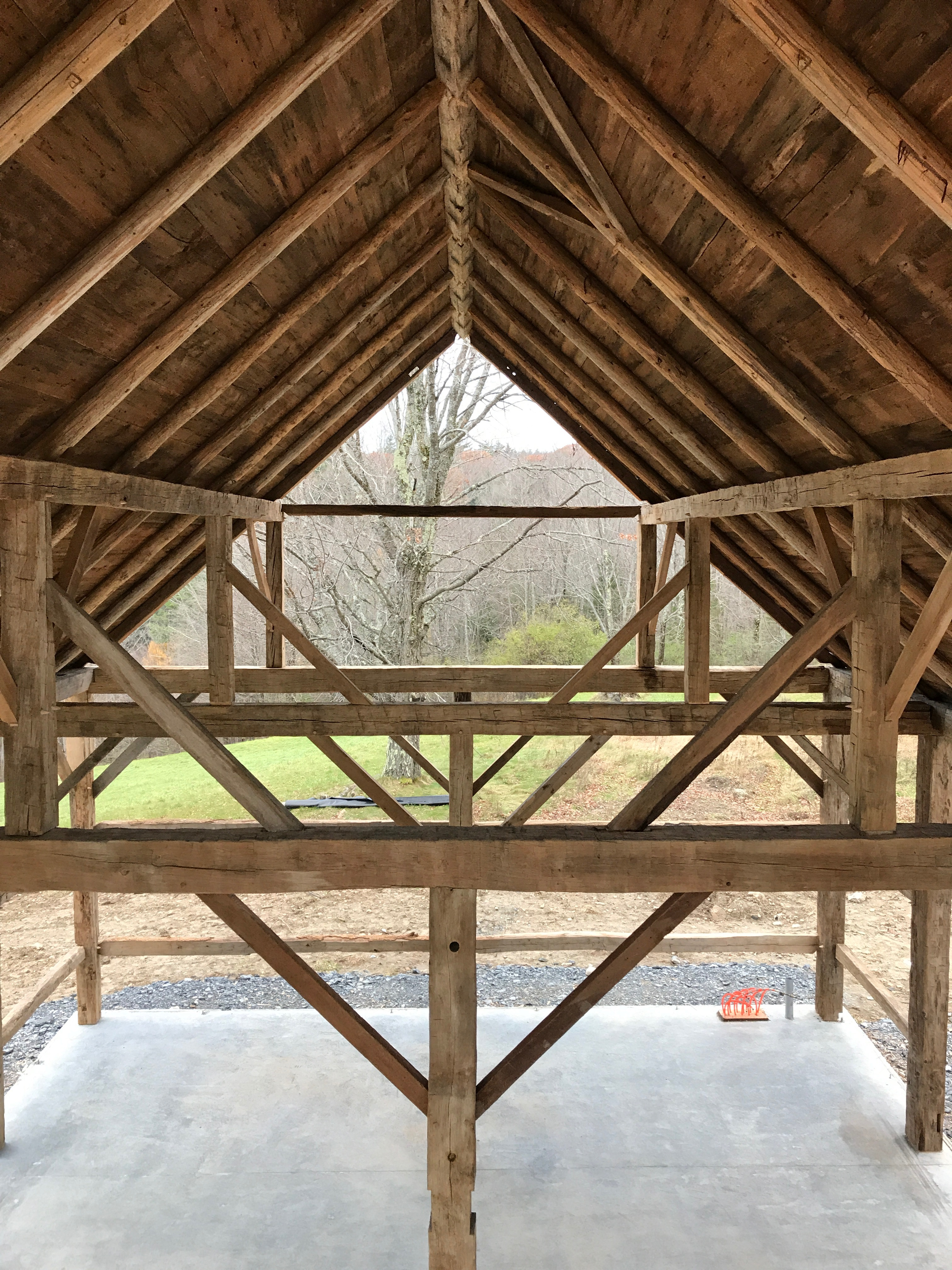 vintage barn restored queen system green mountain timber frames