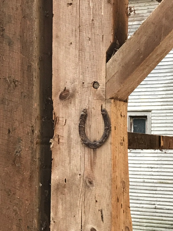 horseshoe for good luck benson timber frame barn for sale